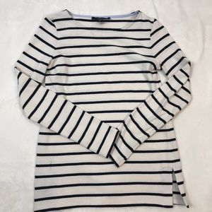 Max Mara Weekend Navy and White Striped Top S